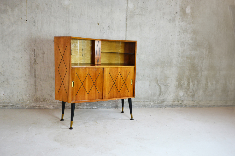 1960's Vintage Small Sideboard / Display Cabinet