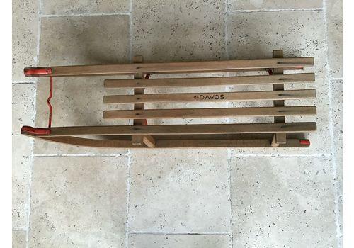 Traditional Vintage Wooden Davos Sledge Red Frame