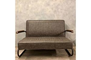 Thumb retro style sofa in faux leather unknown unknown 0