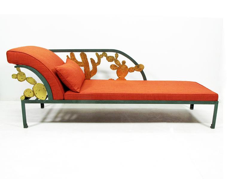 Hilton Mc Connico Cactus Orange Chaise Longue