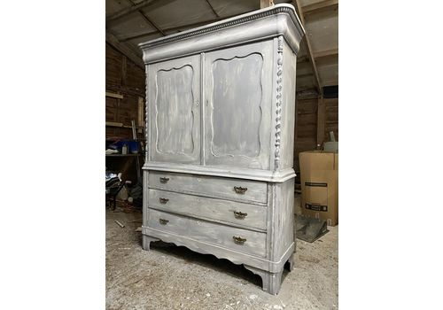 Antique House Keepers Cupboard With Drawers