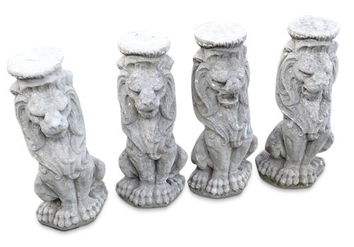 Cast Composite Stone Sejant Lion Garden Ornament Architectural Salvage From A Country House 1 Of 4