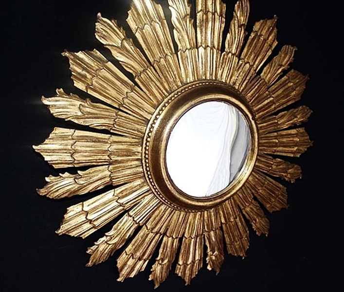 French Sunburst Mirror 76 Cm photo 1