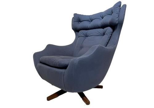 "Mid Century Vintage Retro Parker Knoll ""Statesman"" Swivel Chair 1960's"