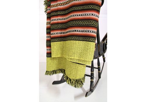 1960s Pure Welsh Wool Throw | Blanket | Tapestry