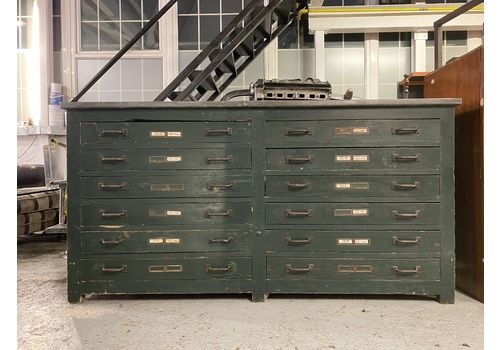 Large Industrial Plan Chest/ Sideboard