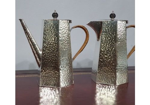 Antique Silver Plated Coffee Pot And Hot Water Jug Early 20th C