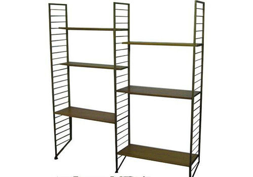 A Two Bay Ladderax Shelving System
