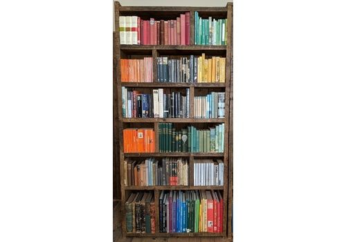 Pigeon Holes X1 Zig Zag Shelves Bookcase Storage Industrial Rustic Vintage Wall Furniture