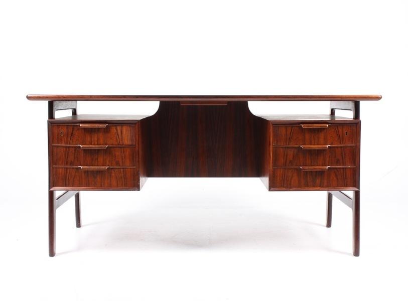 Mid Century Rosewood Desk By Omann Jun, 1950s