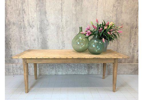 209.5cm Oak Taper Leg Farmhouse Refectory Dining Table