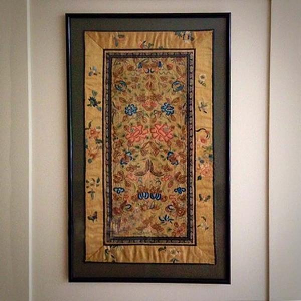 19th Century Silk Panel