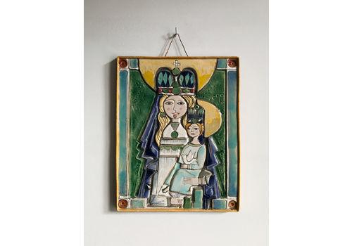 Elio Sciavon Italian Midcentury Ceramic Panel, 1950s