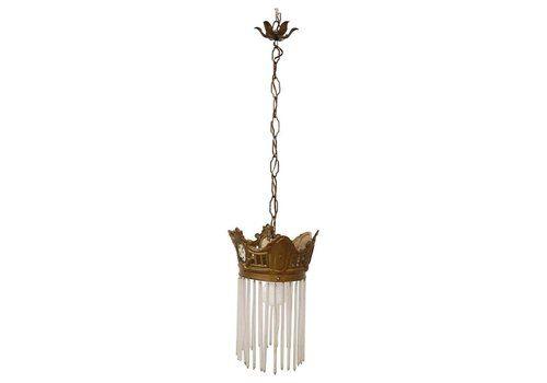 Art Nouveau Gilt Bronze Ceiling Lamp, 1910s