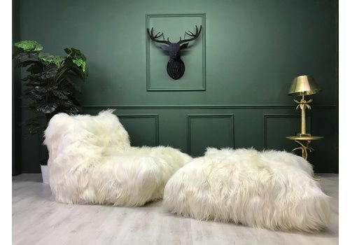 Sheepskin Ligne Roset Togo One Seater Sofa Chair And Footstool