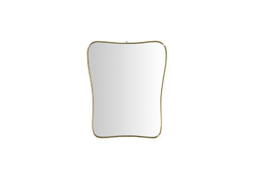 Italian Mid Century Brass Mirror In The Style Of Gio Ponti, 1950s
