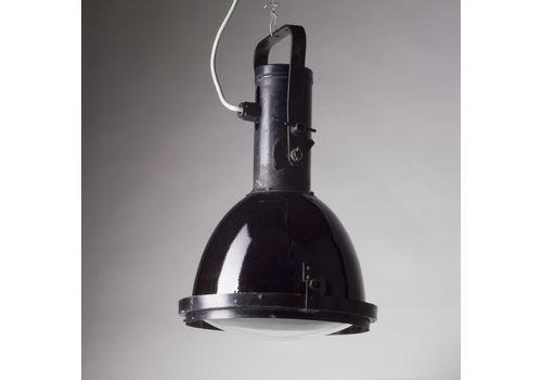 Large Black Industrial Spotlight, Typ12611, Czechoslovakia Circa 1960