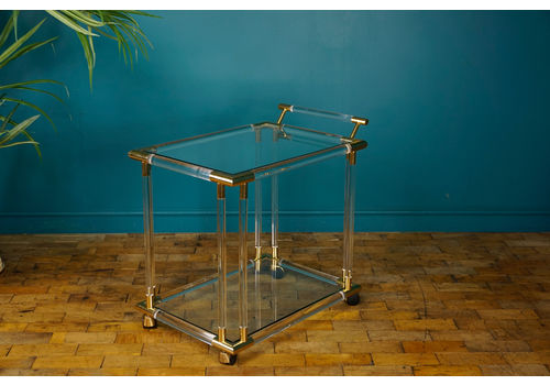 Mid Century Lucite Drinks Trolley / Bar Cart C.1970s