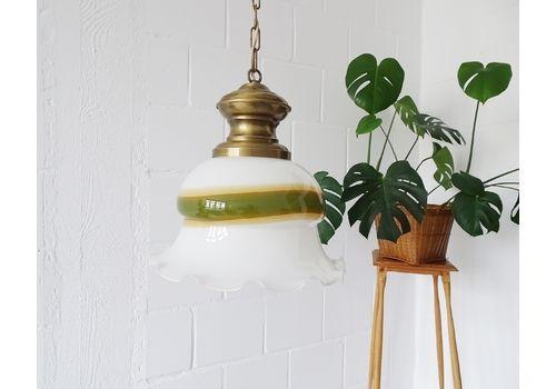 Peill & Putzler Hanging Lamp Made Of Murano Glass And Brass