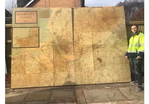 Very Rare Large Map Of The Nw Of England