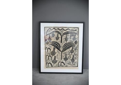 African Lino Cut Print.