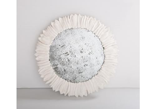 Hand Cast Plaster Mirror Prototypes With Recycled Antique Mirror Plate
