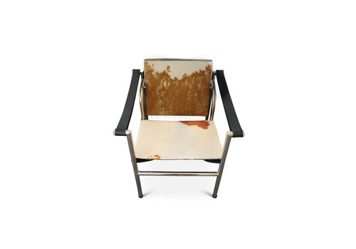 Le Corbusier, Pierre Jeanneret, Charlotte Perriand Lc1 Pony Skin Tubular Frame Sling Armchair