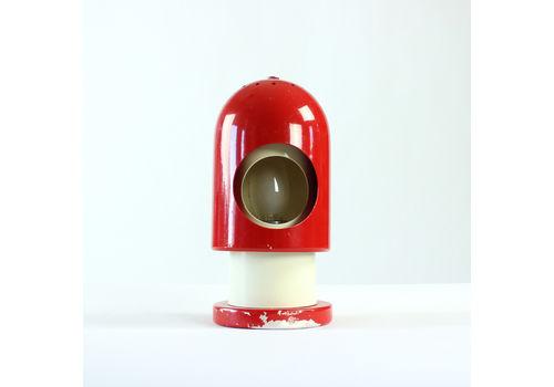 Rocket Table Lamp In Red & Cream Metal, Austria 1970s