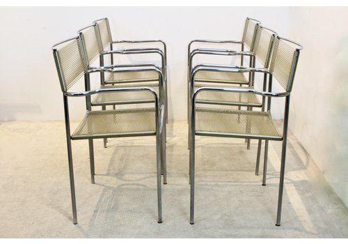 Spaghetti Chairs By Giandomenico Belotti For Alias, 1970s, Set Of 6