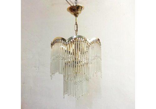 Glass Pendant Lamp, 1970s