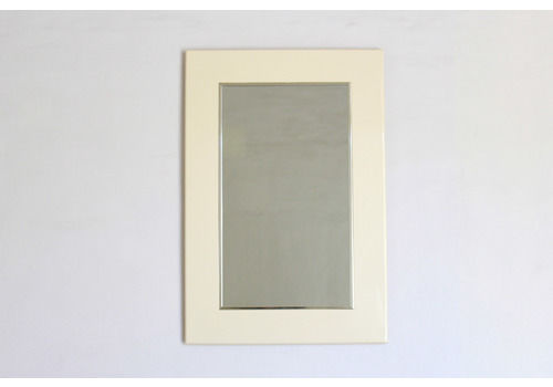 1970s Vintage Mirror With Lacquered Ivory Wood Frame