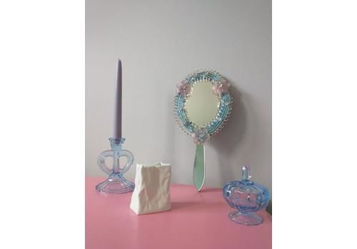 Pink And Blue Vintage Murano Glass Mirror
