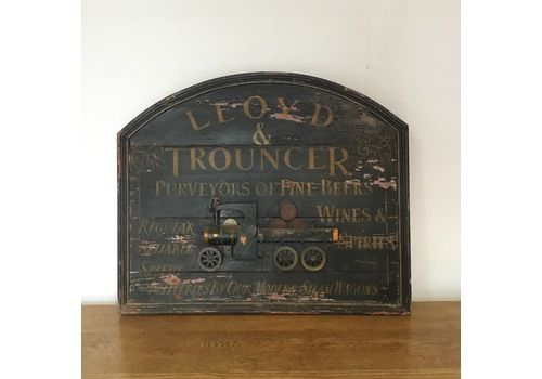 Vintage Wooden Brewery Advertising Sign