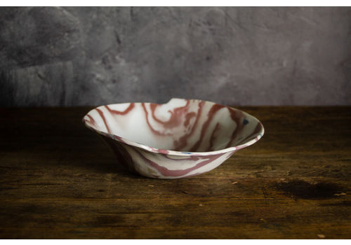 Stunning Abstract Studio Bowl, Signed By Artist.