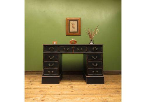 Black Painted Pedestal Desk