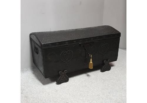 European 18th Century Crocodile Covered & Studded Travelling Chest