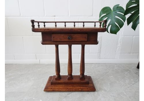 Oak Side Table With Antique Style Drawer