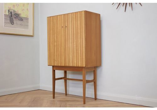 Mid Century Teak Drinks Cocktail Cabinet By Ian Audsley For G W Evans