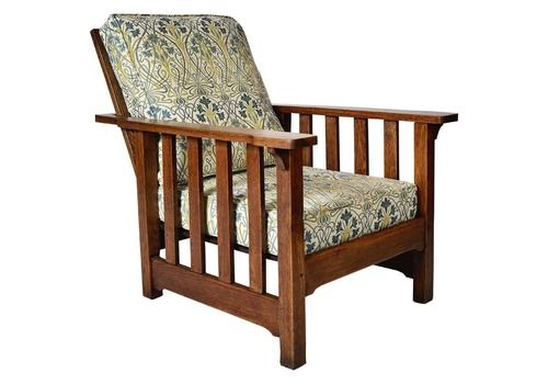 Antique Oak Morris Chair Recliner Gustav Stickley Mission William Morris Arts & Crafts Nouveau Garden Room Chair