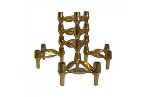 Thumb set of 6 1970s bmf gold edition modular candle holders designed by fritz nagel ceasar stoffi germany 0