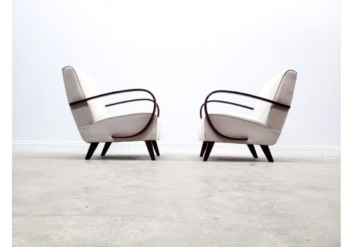 1930 Jindrich Halabala Bentwood Armchair In Neutral