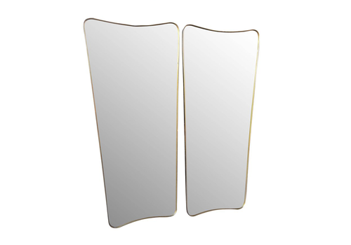 Pair Of Large Italian Shield Mirrors