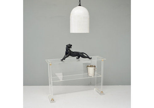 Perspex Side Table, 1960s, Glass