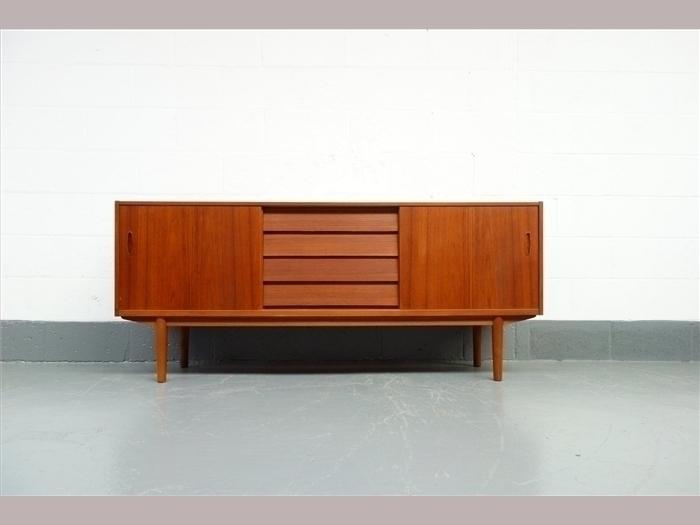 """Nils Jonsson 1960 S Teak """"Trio"""" Sideboard"""