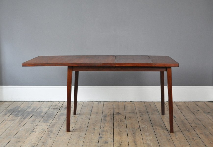 Teak Dining Table With Unique Side Extension photo 1