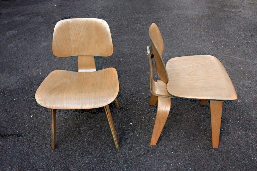 Dcw Chairs By Charles & Ray Eames For Herman Miller, 1940s, Set Of 2