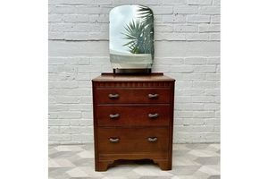 Thumb small dressing table drawers with mirror by lebus 0