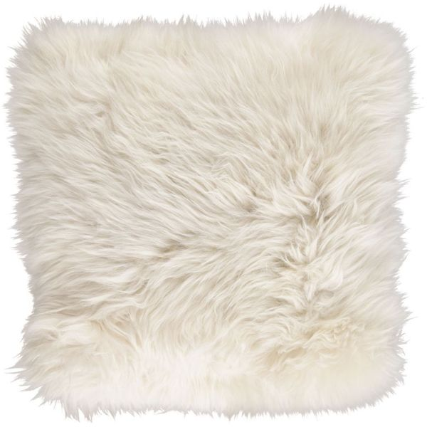 New Zealand Sheepskin Cushion   Linen