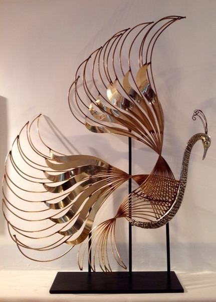 Curtis Jere Peacock Sculpture