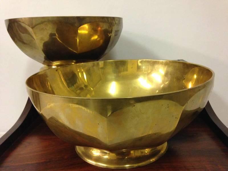 1970s French Brass Bowl